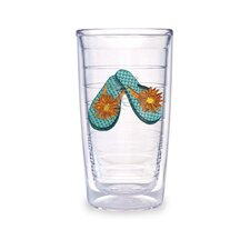 Flip Flop 16oz. Teal Tumbler (Set of 4)