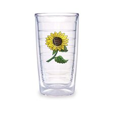 Flowers 16 oz. Sunflower Tumbler (Set of 4)