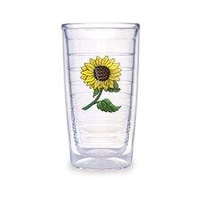 Flowers Sunflower 16 oz. Insulated Tumbler (Set of 4)