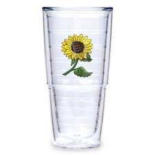 Flowers 24 oz. Sunflower Tumbler (Set of 2)