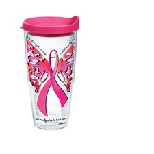 <strong>Tervis Tumbler</strong> 24 Oz. Wrap Pink Ribbon Roosevelt Tumbler (Set of 2)