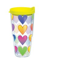 24 Oz. Wrap Neon Heart Tumbler (Set of 2)