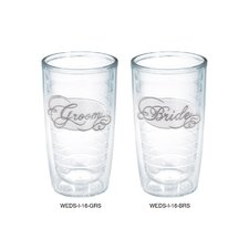 <strong>Tervis Tumbler</strong> 16 Oz. Bride Groom Tumbler (Set of 2)