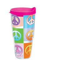 24 Oz. Wrap Peace Sign Tumbler (Set of 2)