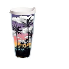 24 Oz. Wrap Palm Tree Tumbler (Set of 2)