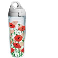 Wrap Poppies Water Bottle