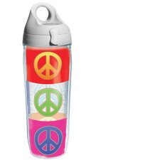 Wrap Peace Signs Water Bottle