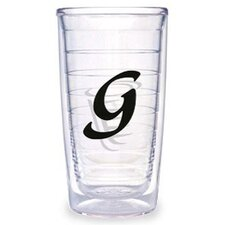 Black Laser Twill G 16 oz. Tumbler (Set of 2)