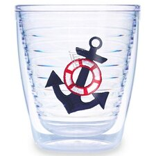 Anchor Blue 12 oz. Tumbler (Set of 4)