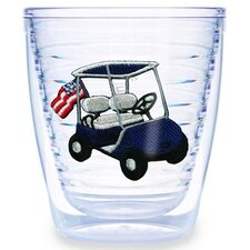 Golf Cart Blue 12 oz. Tumbler (Set of 4)