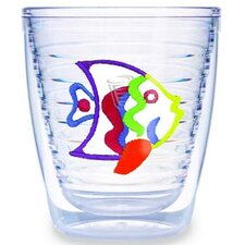 Multi Colored Fish 12 oz. Tumbler (Set of 4)