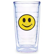 Just for Fun Smiley Face 16 oz. Insulated Tumbler (Set of 4)