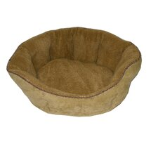 Faux Suede/Berber Tufted Kuddle Kup® Pet Bed in Sage