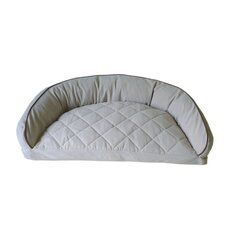 Diamond Quilted Semi Circle Lounge Bolster Dog Bed