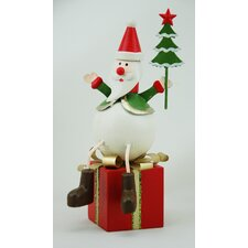 Santa on Present (Set of 2)