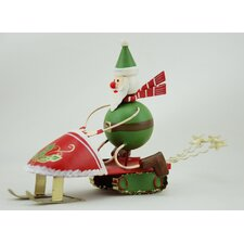 Snowmobile Santa (Set of 2)