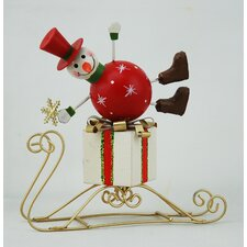 Small Snowman on Sledge (Set of 2)