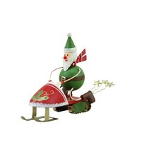 Snowmobile Santa (Set of 2)