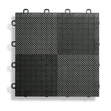 """12"""" x 12""""  Deck and Patio Flooring Tile in Black (Set of 30)"""