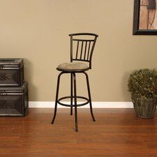 Napa Stool in Coco with Taupe Microfiber