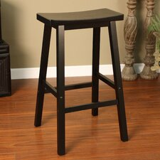 <strong>American Heritage</strong> Wood Saddle Bar Stool
