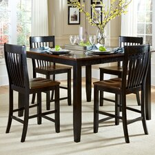 <strong>American Heritage</strong> Ellington 5 Piece Counter Height Dining Set