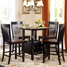 <strong>American Heritage</strong> Ashbury 5 Piece Counter Height Dining Set