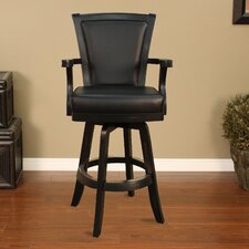 <strong>American Heritage</strong> Auburn Swivel Bar Stool with Cushion
