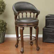 "<strong>American Heritage</strong> Giovanni 26"" Swivel Bar Stool with Cushion"