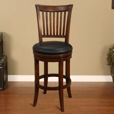 <strong>American Heritage</strong> Dennison Swivel Bar Stool with Cushion