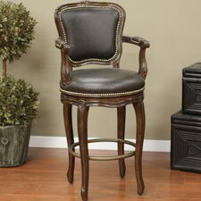 "<strong>American Heritage</strong> Salvatore 26"" Swivel Bar Stool with Cushion"