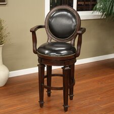 "<strong>American Heritage</strong> 30"" Swivel Bar Stool with Cushion"