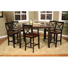 <strong>American Heritage</strong> Rosetta 7 Piece Counter Height Dining Set