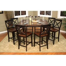 <strong>American Heritage</strong> Rosetta 9 Piece Counter Height Dining Set