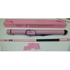 Cue and Case Combo-Pink for the Cure