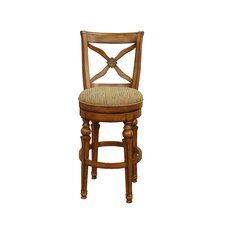 Livingston Stool in Sienna with Harvest Fabric