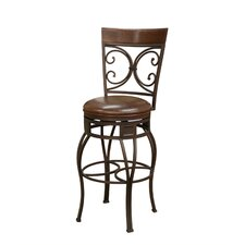 Treviso Stool in Pepper with Bourbon Leather