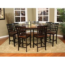Rosetta 9 Piece Counter Height Pub Set
