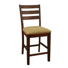 "Salma 24"" Bar Stool with Cushion (Set of 2)"