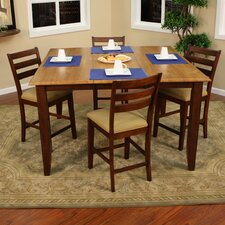 Andria 5 Piece Counter Height Pub Set
