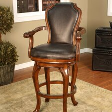 <strong>American Heritage</strong> Juliana Swivel Bar Stool with Cushion