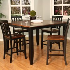 <strong>American Heritage</strong> Rosetta Butterfly Counter Height Dining Table