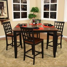 Rosetta 5 Piece Counter Height Dining Set