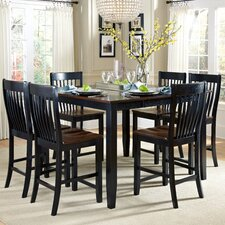 <strong>American Heritage</strong> Ellington 7 Piece Counter Height Dining Set