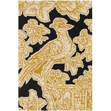 Tufted Pile Yellow Toile Rug