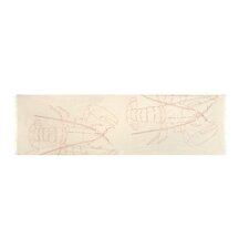 Scrimshaw Lobster Embroidered Scarf
