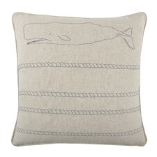 "18"" Whale Rope Pillow"