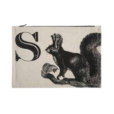 "Vintage Engravings Pictorial Alphabet ""S"" Pouch"