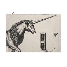 "Vintage Engravings Pictorial Alphabet ""U"" Pouch"