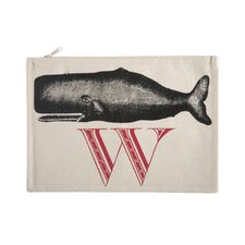 "Vintage Engravings Pictorial Alphabet ""W"" Pouch"